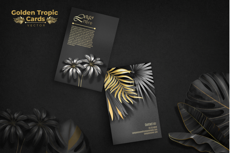 golden-tropic-cards-vector