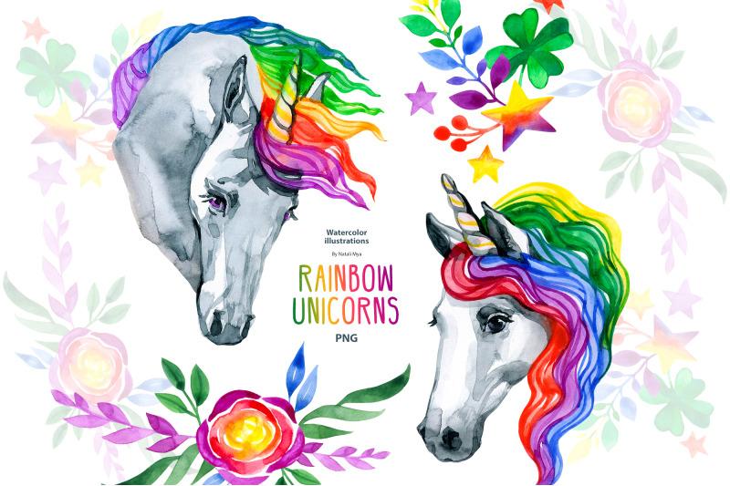watercolor-rainbow-unicorn-clipart