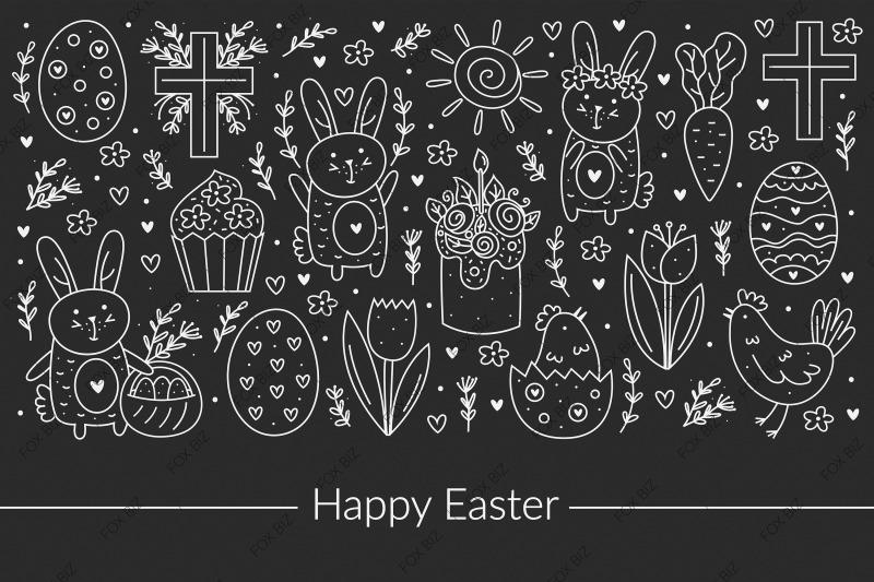 happy-easter-doodle-elements