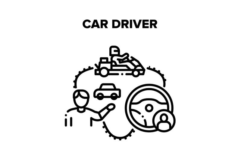 car-driver-racer-vector-black-illustrations