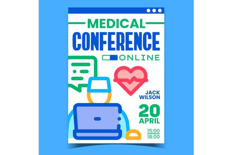 online-medical-conference-promotion-banner-vector