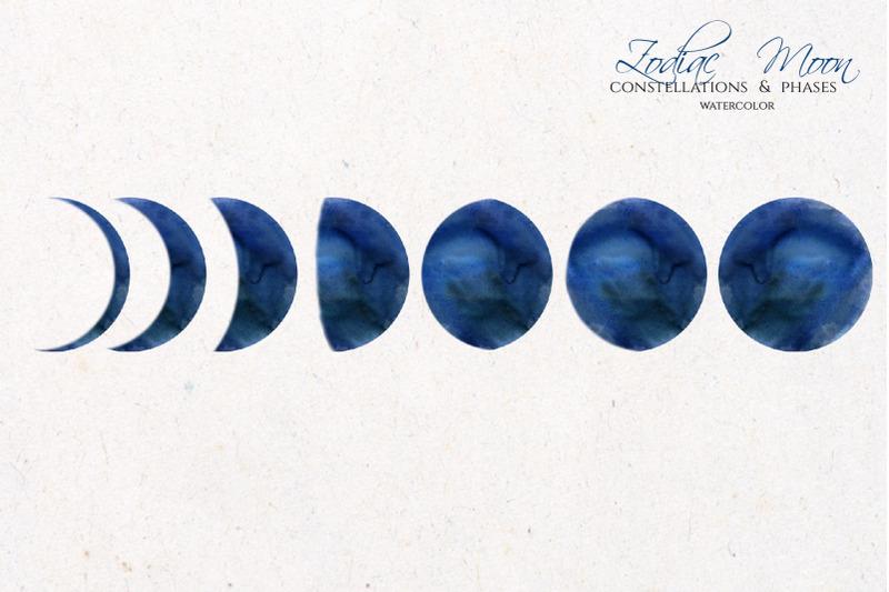 watercolor-zodiac-amp-blue-moon-clipart