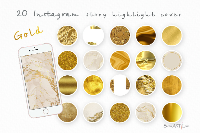 instagram-gold-highlight-icons