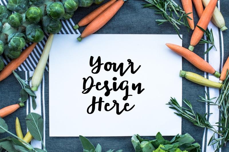 Free Vegetable mockup (PSD Mockups)