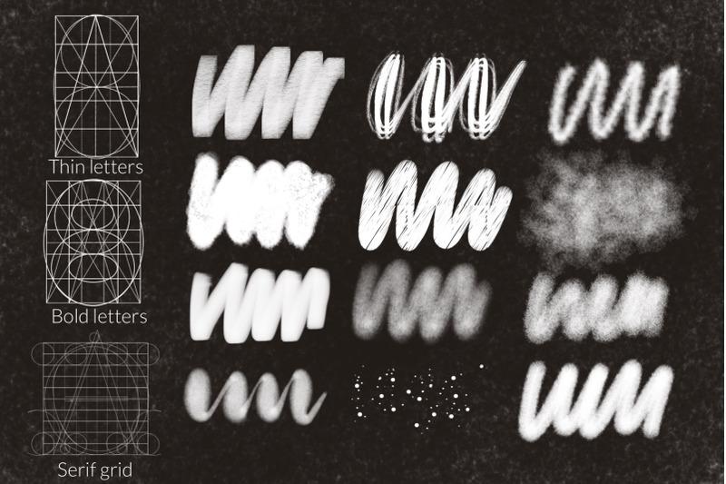 procreate-letter-grid-builder-chalk-letterinf-brushes-set
