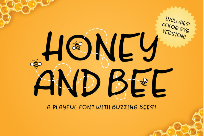 honey-and-bee-font