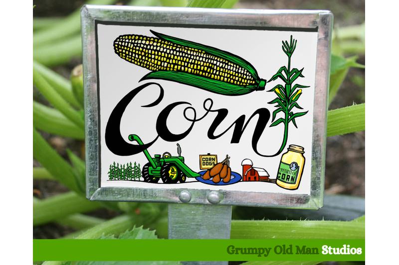 corn-vegetables-garden-labels