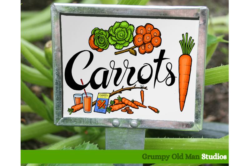 carrots-vegetables-garden-labels