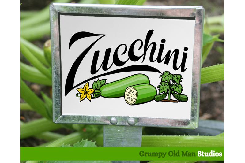 zucchini-vegetables-garden-labels