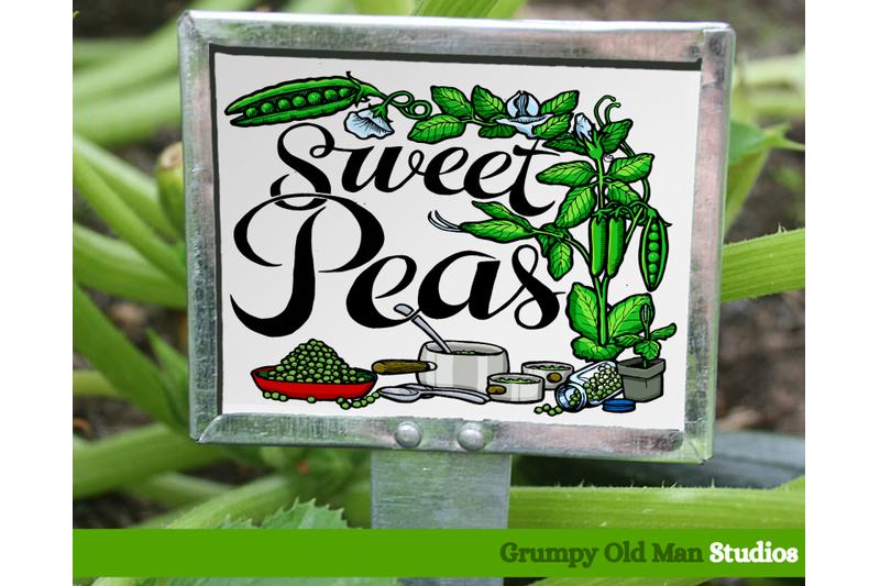sweet-peas-vegetables-garden-labels
