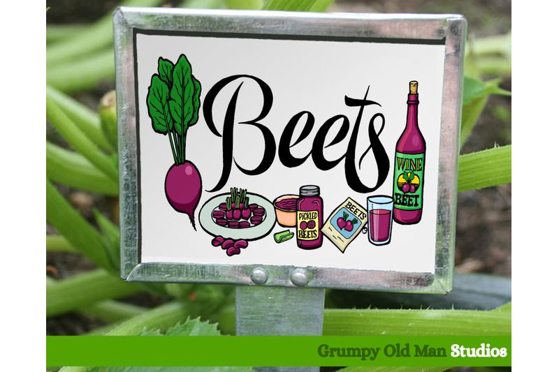 beets-vegetables-garden-labels