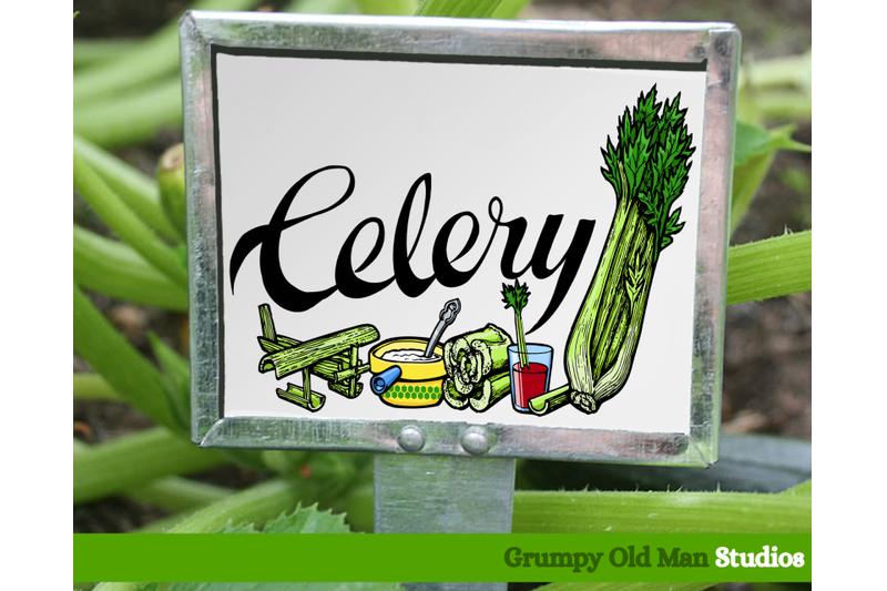 celery-vegetables-garden-labels