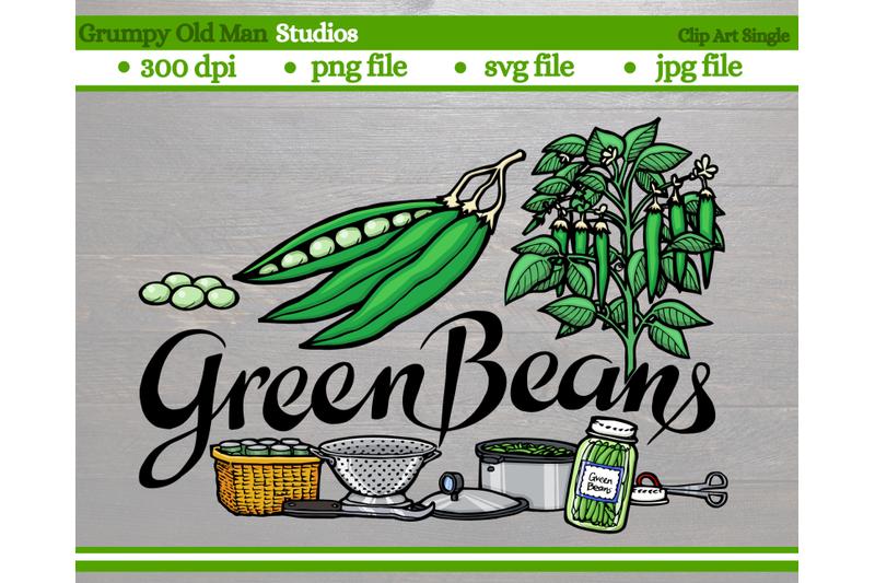 green-beans-vegetables-garden-labels