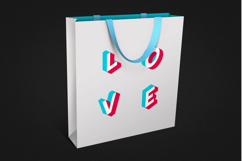 anaglyph-isometric-svg-color-font