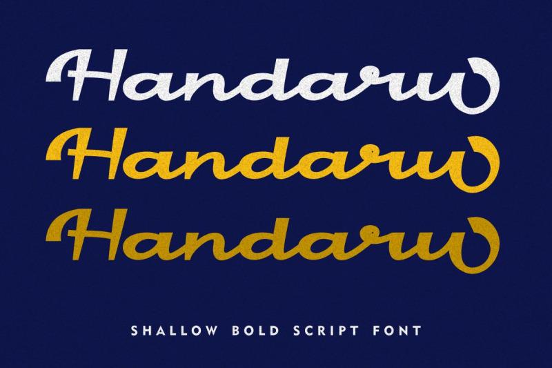 handaru-shallow-bold-script
