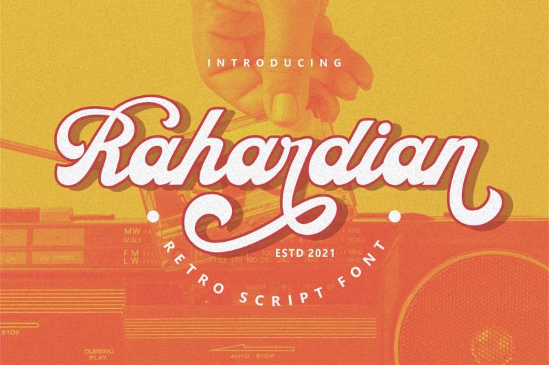 rahardian-retro-script-font