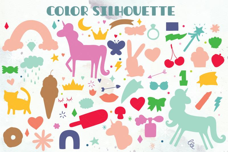 whimsical-doodles-hand-drawn-unicorn-rainbow-heart-lips