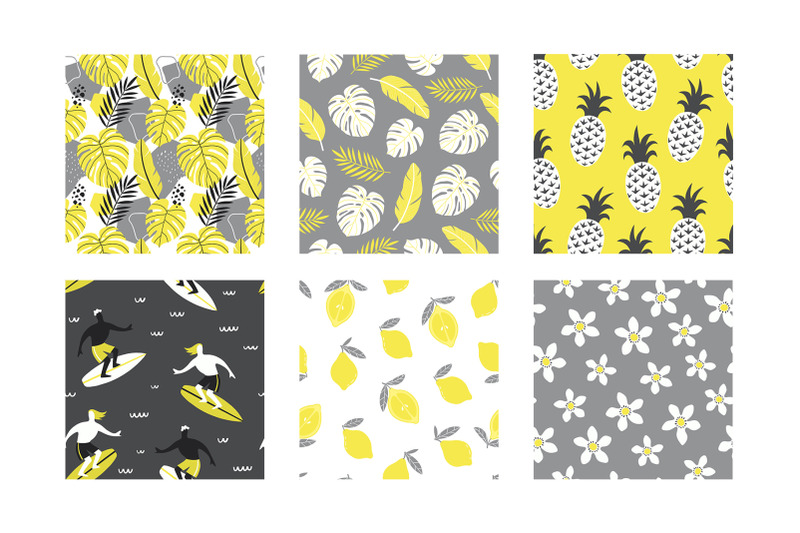 summer-time-vector-abstract-patterns