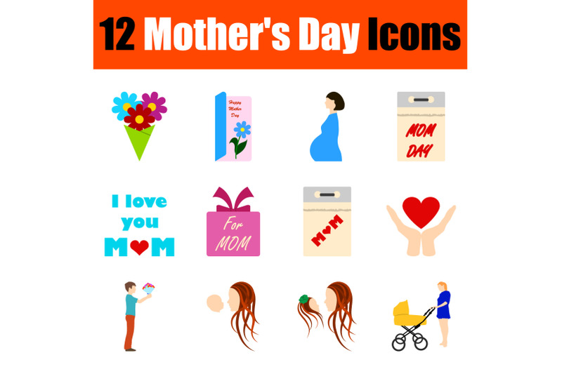 mother-039-s-day-icon-set