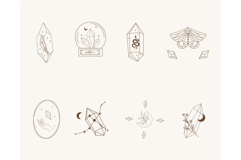 logo-elements-crystal-logos-mystical-logo-logo-line-art