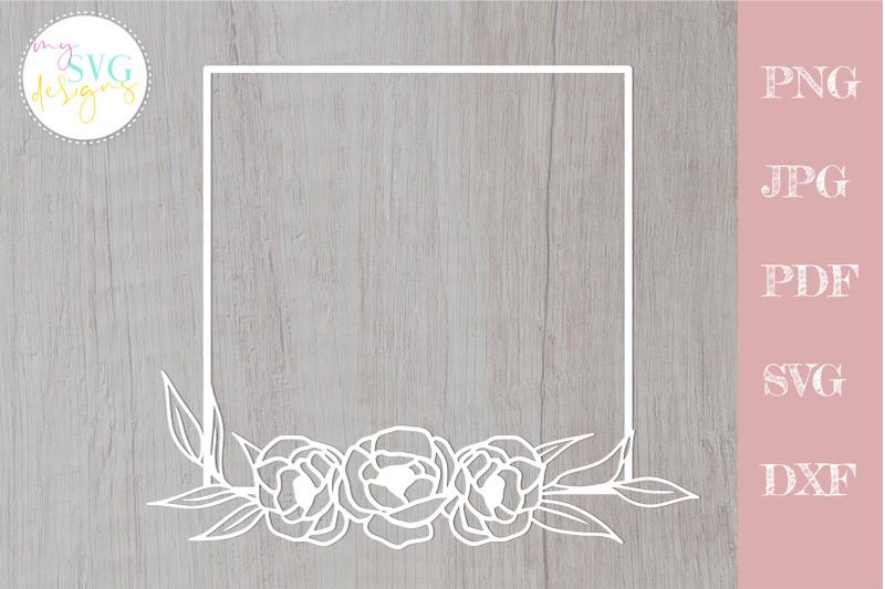rose-svg-rose-frame-svg-floral-frame-svg