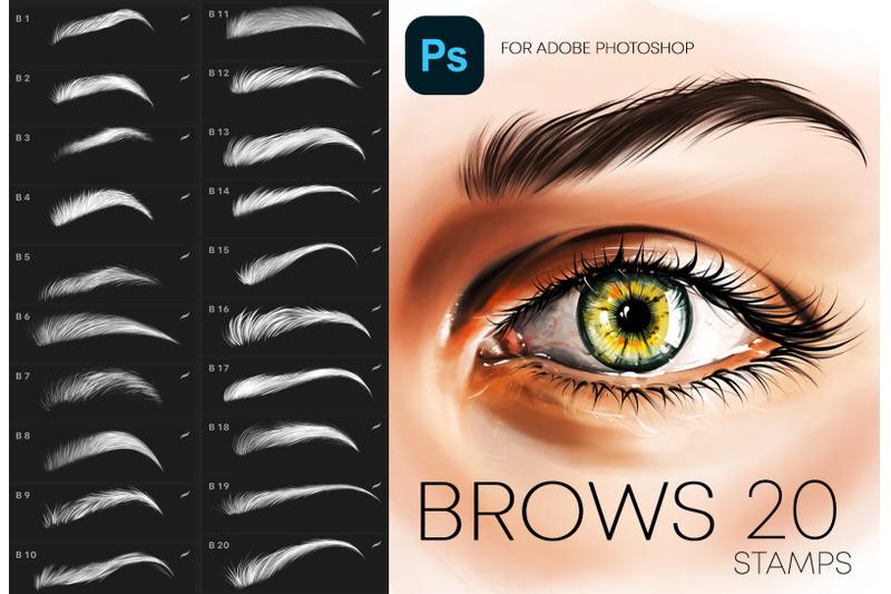 adobe-photoshop-brows-stamp-brushes-makeup