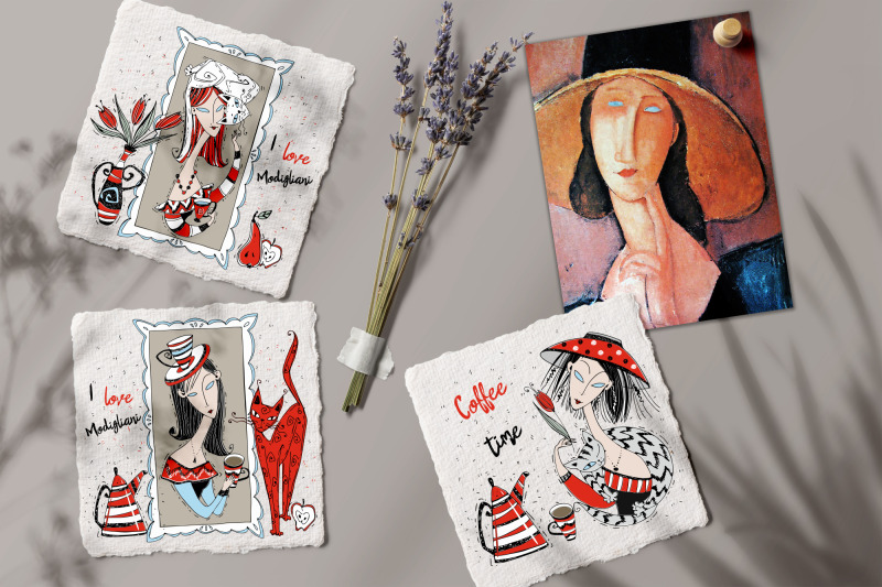 tea-time-coffee-party-png-svg-modigliani-art