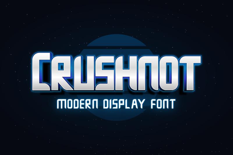 crushnot-modern-display-font