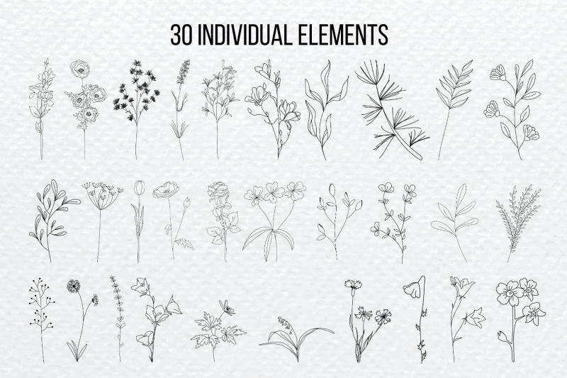 botanical-flowers-silhouette-bundle