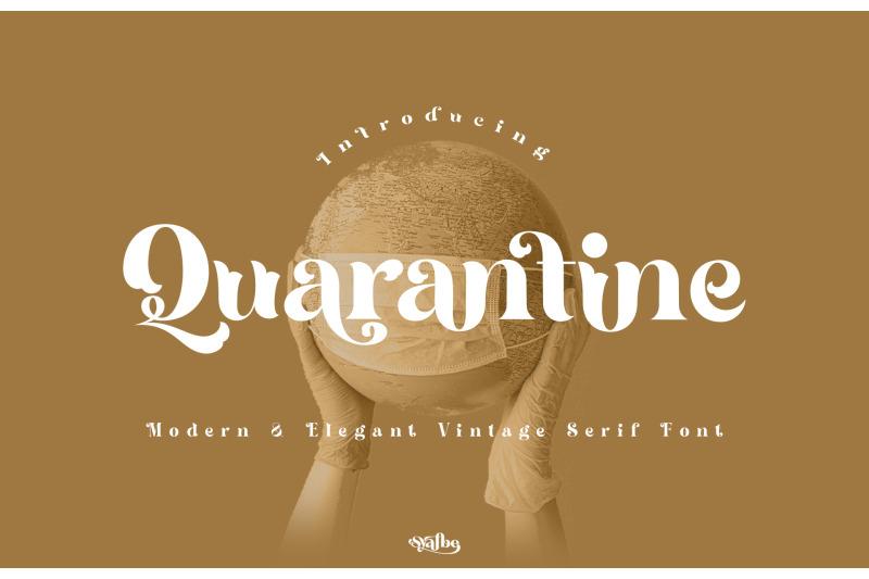 quarantine-font