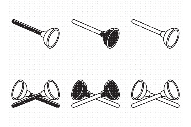 plunger-a-plumber-039-s-tool-svg-and-png-clipart