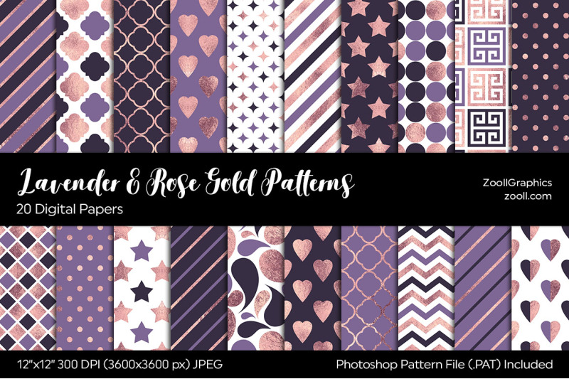 lavender-and-rose-gold-digital-papers