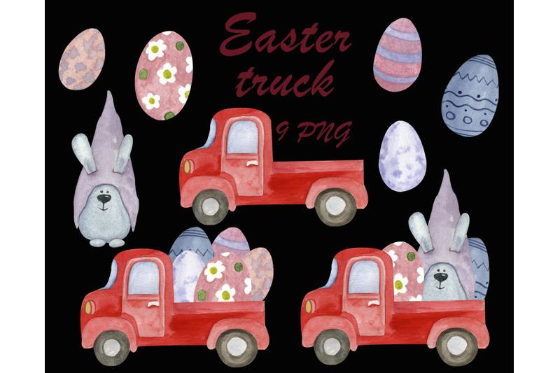 easter-truck-cute-clipart-digital-easter-bunny-png-egg-clip-art