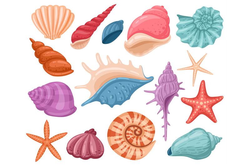 cartoon-seashells-summer-beach-sea-shells-underw