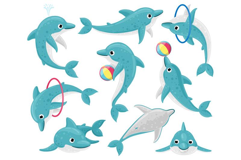 cute-cartoon-dolphins-underwater-fauna-mammal-character-funny-dolphi