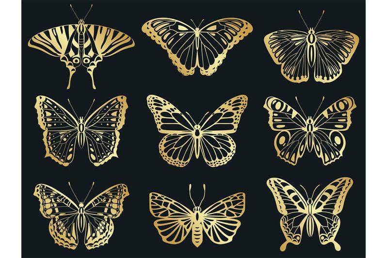 golden-butterflies-shiny-gold-decorative-butterflies-silhouettes-bea