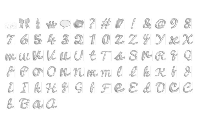 silver-foil-balloon-script-alphabet