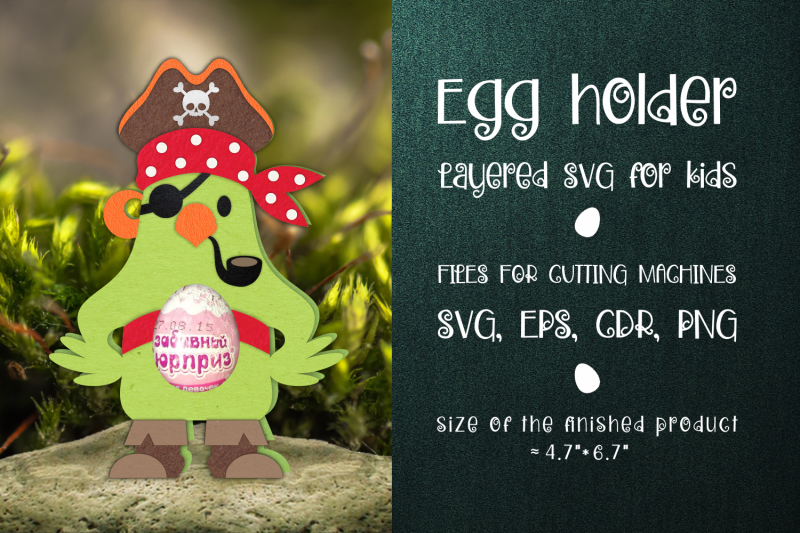 pirate-parrot-chocolate-egg-holder-template-svg