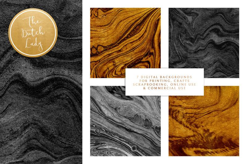 gold-amp-black-paint-swirl-textures