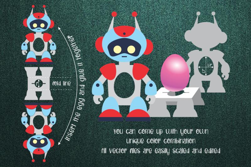 robot-chocolate-egg-holder-template-svg