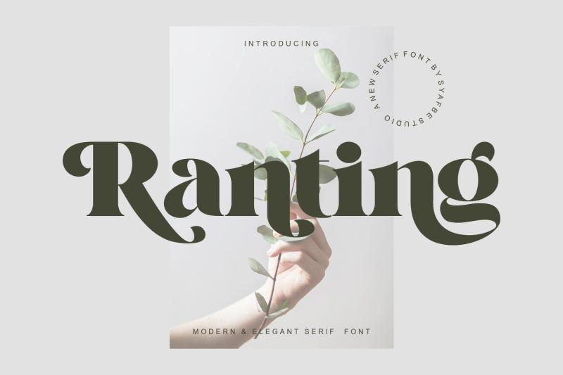 ranting-font