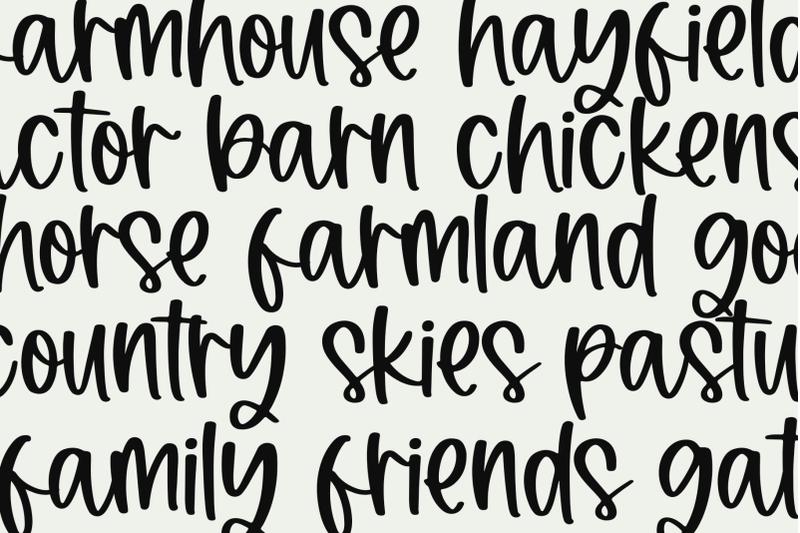haystacked-farmhouse-script-font