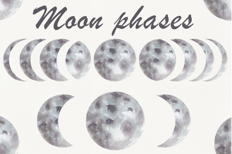 watercolor-phases-of-the-moon-space-clipart