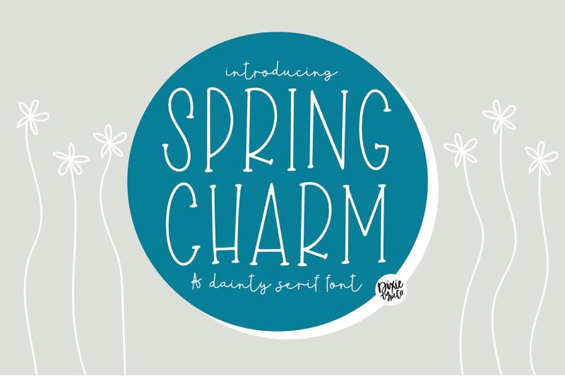 spring-charm-skinny-serif-font