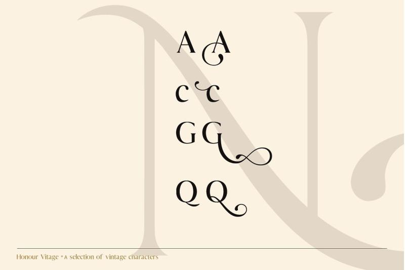 honour-modern-amp-vintage-font