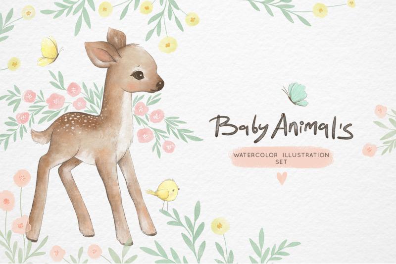 watercolor-baby-animals