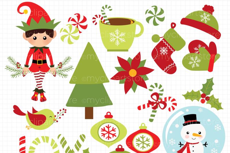 christmas-joy-elf-and-snow-globe-vector-clipart