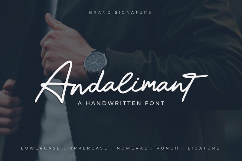 andalimant-handwritten-font