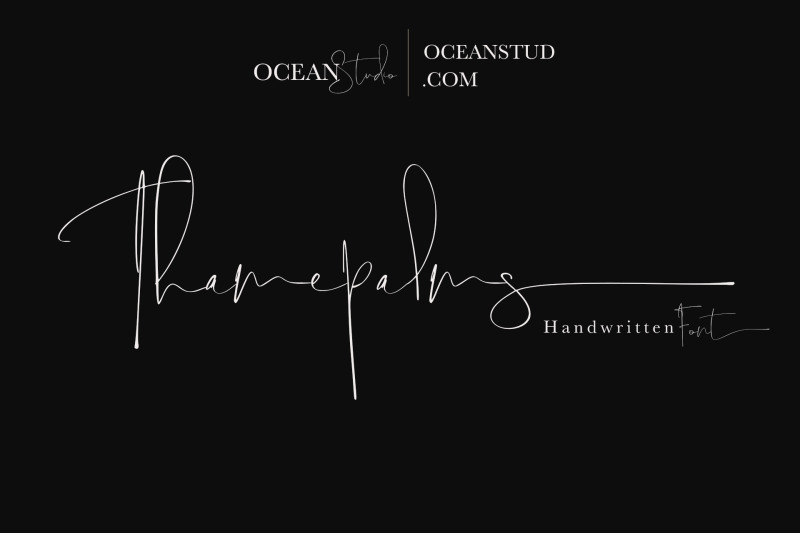 thamepalms-handwritten-font