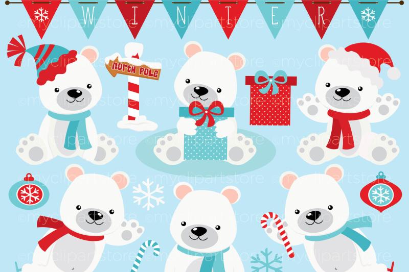 winter-polar-bear-vector-clipart